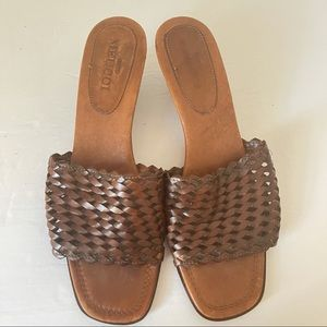 Sesto Meucci Slip On Leather Sandals
